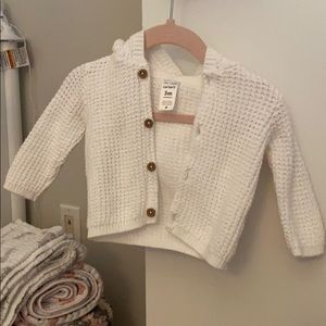 Carter's button up hooded sweater